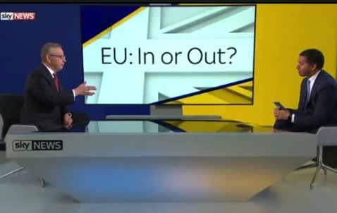 Michael Gove on Sky News Debate