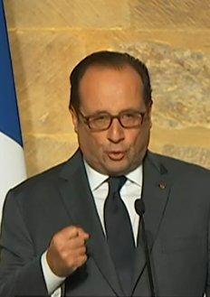 Hollande slant med tungan